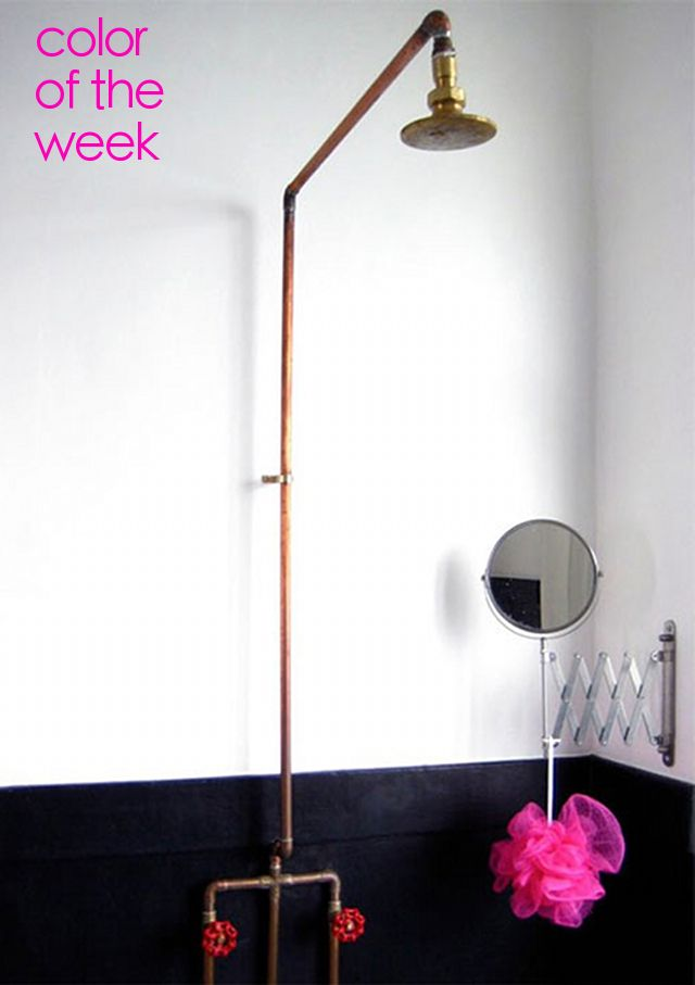 exposed copper pipe shower For the Home Pinterest Pipes