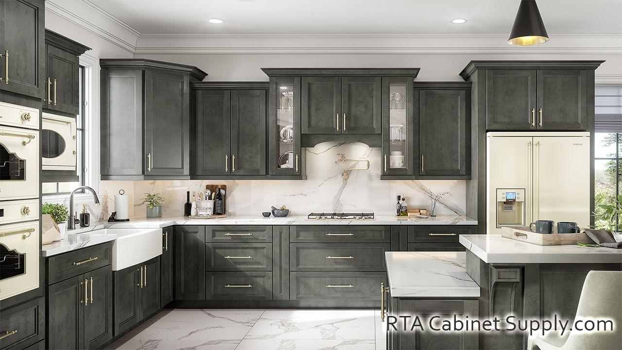 Preston Dark Ready To Assemble Kitchen Cabinets Assembled Kitchen Cabinets Rta Kitchen Cabinets Kitchen Cabinets