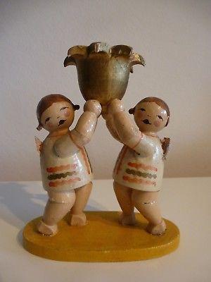 Wendt Kuhn Zwei Engel Mit Lichtnapf Antique Christmas Antique Toys German Folk