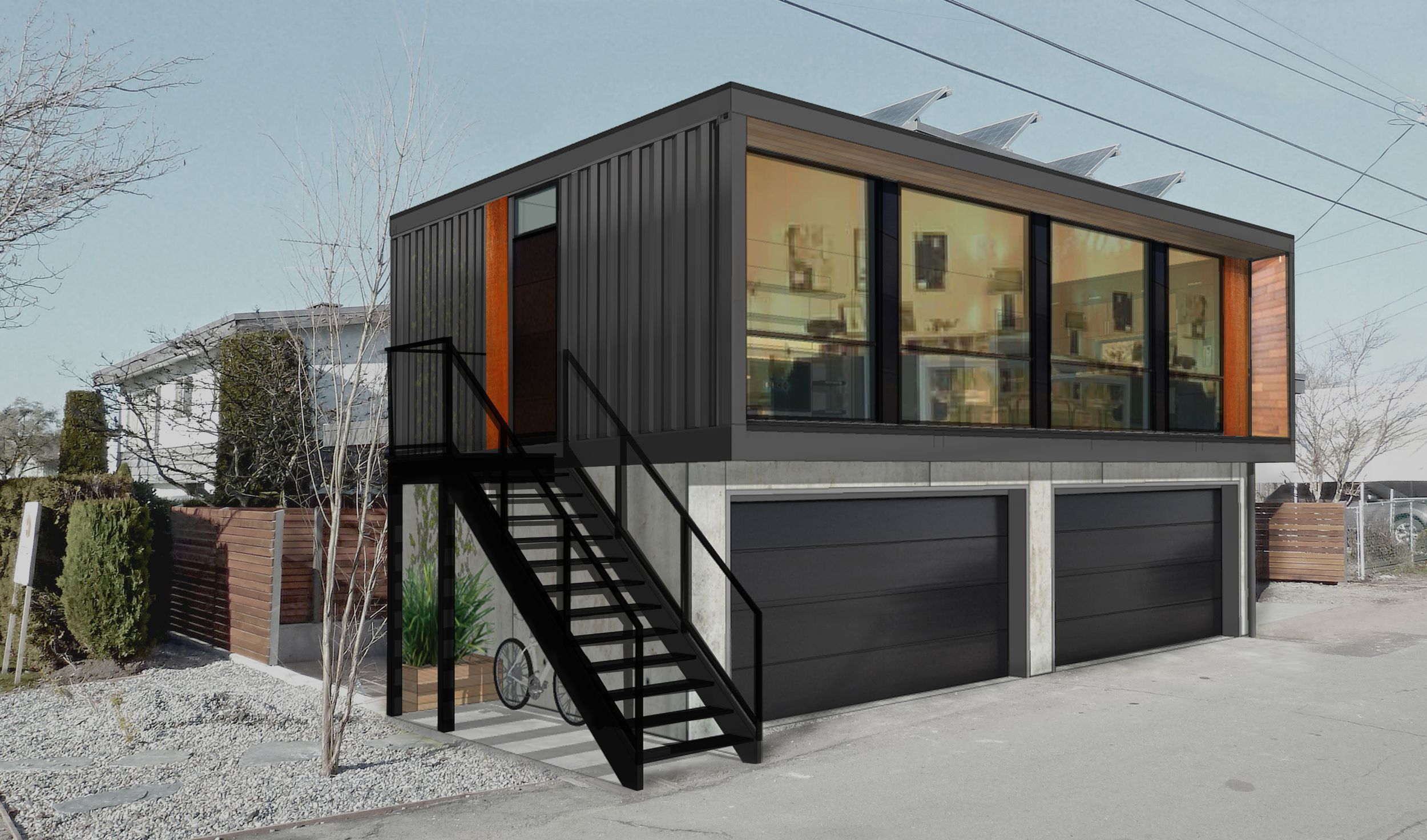 H04: Two Bedroom Modern Shipping Container Home . HONOMOBO, CANADA ...