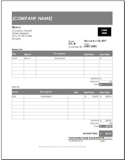 Handyman Invoice Template DOWNLOAD FREE at   wwwxltemplates