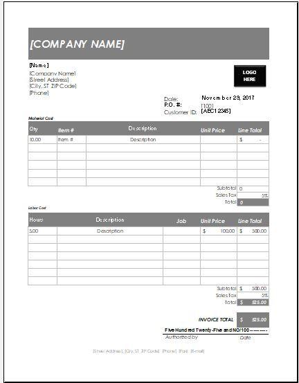 microsoft invoice templates download