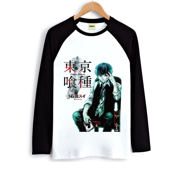 Tokyo Ghoul Kaneki Ken T shirt Men and women long sleeved t shirt cartoon Spring bottoming shirt-inT-Shirts from Men's Clothing & Accessories on Aliexpress.com | Alibaba Group
