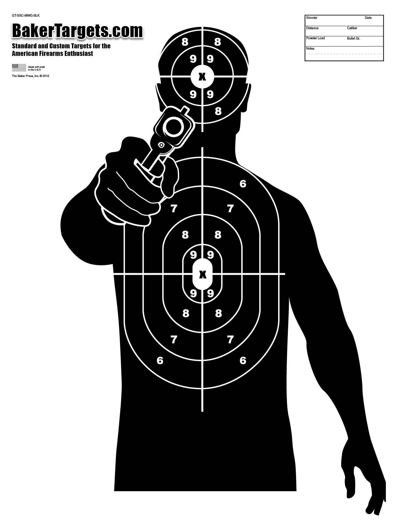 It's just a photo of Selective Shoot Target Print
