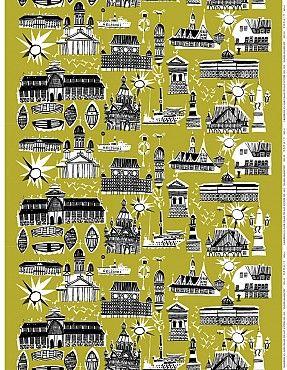 Helsinki-Helsingfors fabric by Marimekko