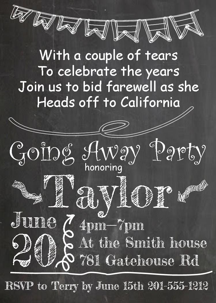 going away card template