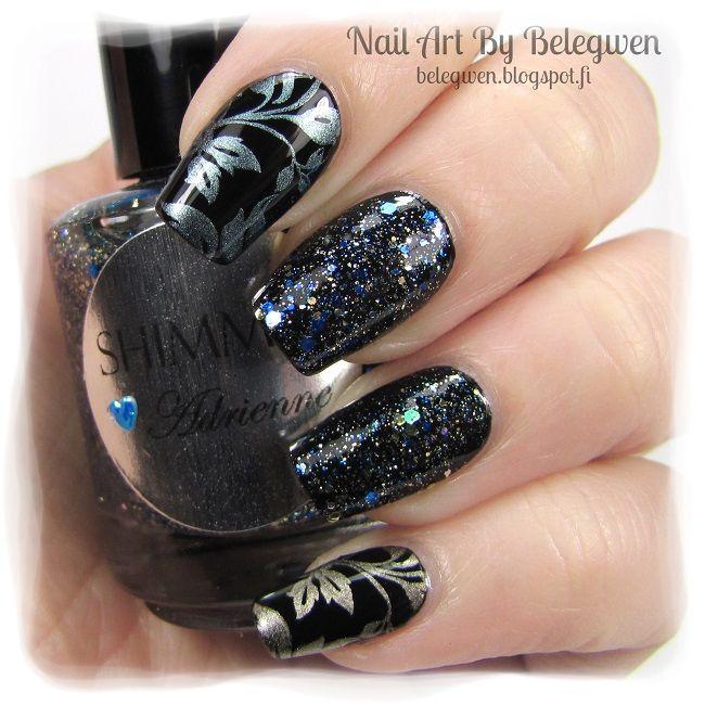 Nail Art by Belegwen: Shimmer Polish: Adrienne