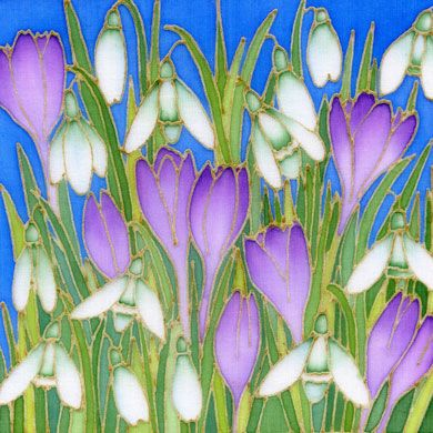 Crocus largeg 390390 pixels craft ideas pinterest silk one of the uks leading silk painters vibrant paintings of flowers and stylised landscapes mightylinksfo