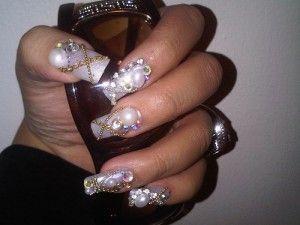 Wonderful Crystal Nail Jewelry For Glammor Women