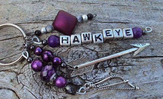 Hawkeye/Clint Barton inspired key chain by Anywhereinbetween