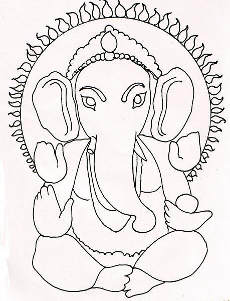Ganesha drawing … | ganesh | Pinterest | Ganesha, Drawings ...
