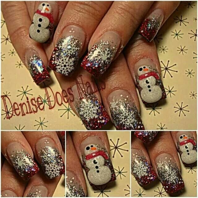 Snow Day- Christmas nails