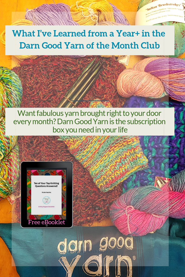 What I Ve Learned From A Year In The Darn Good Yarn Of The Month Club Knitting For Charity Knitting Club Yarn Subscriptions