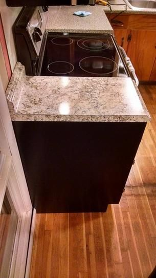 Hampton Bay 4 Ft Laminate Countertop In Typhoon Ice With Valencia