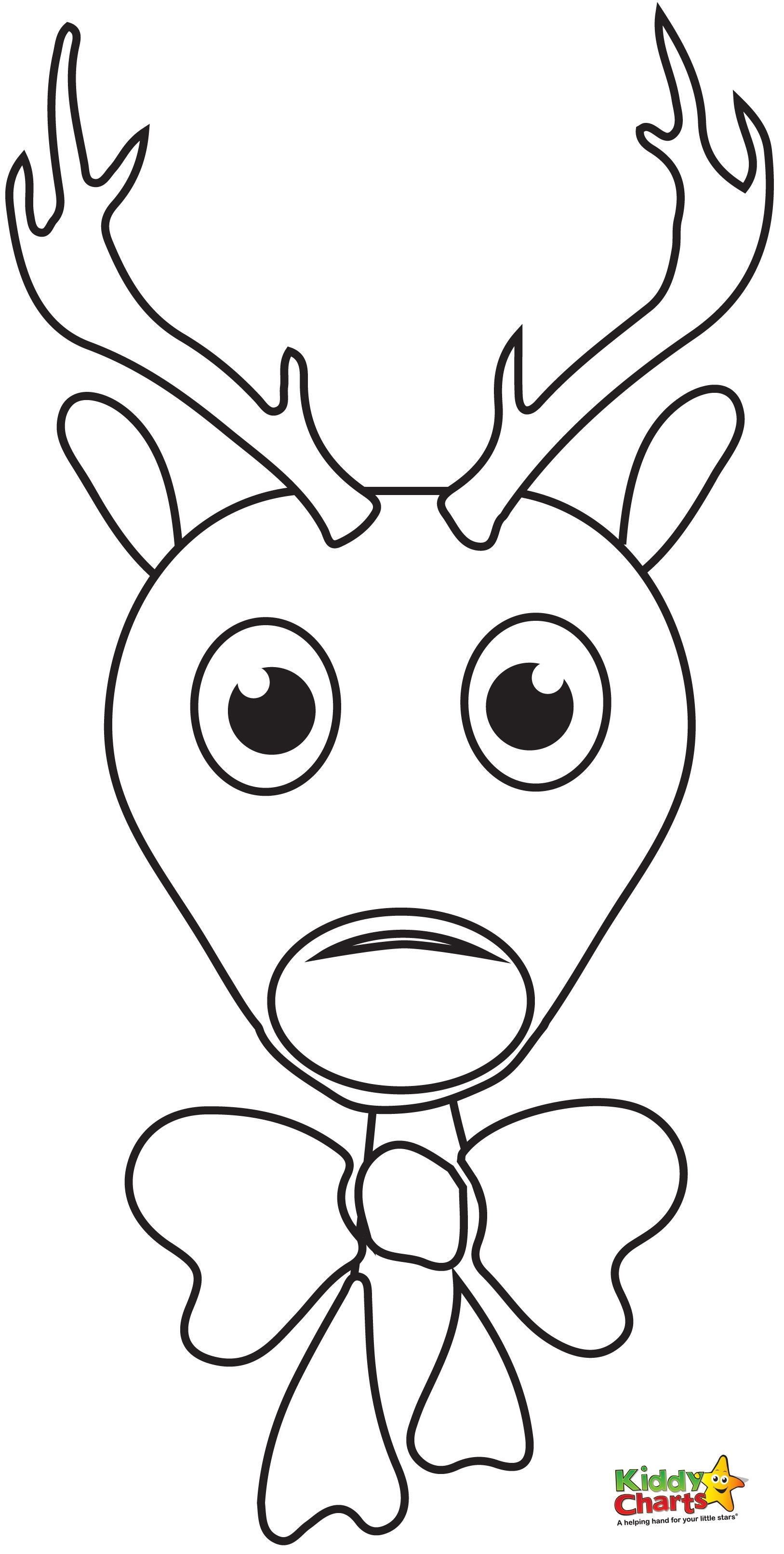 Reindeer Face Coloring Pages Free Rudolph Coloring Pages Christmas Coloring Pages Animal Coloring Pages