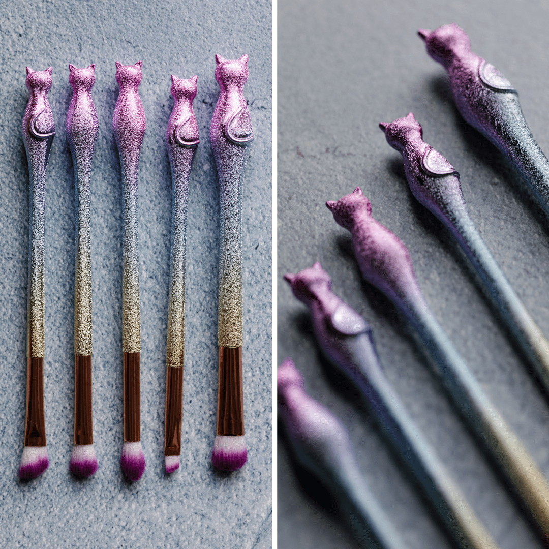 This is the most purrfect makeup brush set! Super adorable