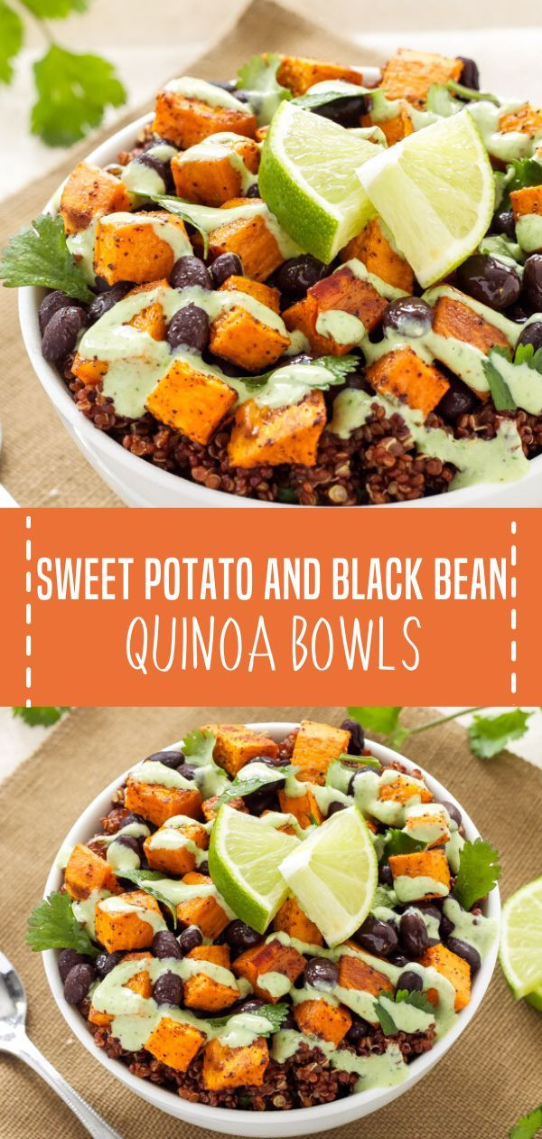 Photo of Sweet Potato and Black Bean Quinoa Bowls