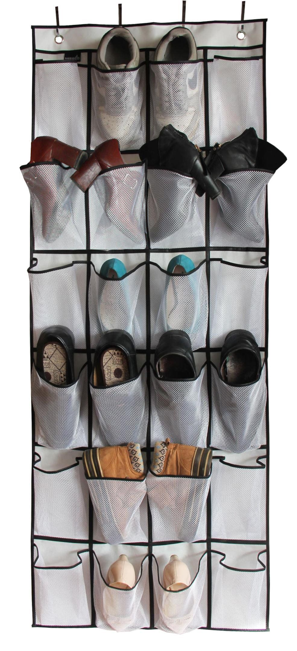 edb55e015d1 MISSLO Over The Door Shoe Organizer 24 Large Mesh Pockets White     Check  out this great product. (This is an affiliate link)  door