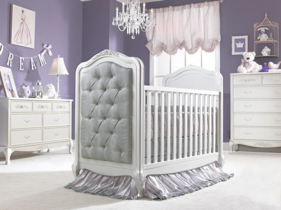 Dolce Babi Angelina Traditional Upholstered Crib In Pearl Kids Furniture In Los Angeles Luxury Baby Crib Upholstered Crib Baby Furniture