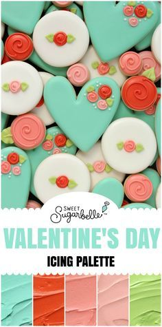 Pretty Valentine S Day Icing Palette The Sweet Adventures Of Sugar