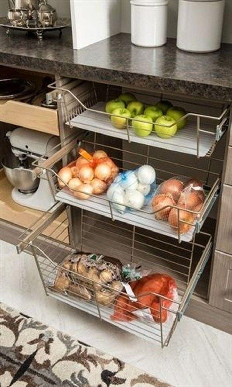 50 Stunning Farmhouse Kitchen Storage Ideas Best For Designing Your Kitchen - Trendehouse #kitchenstorage