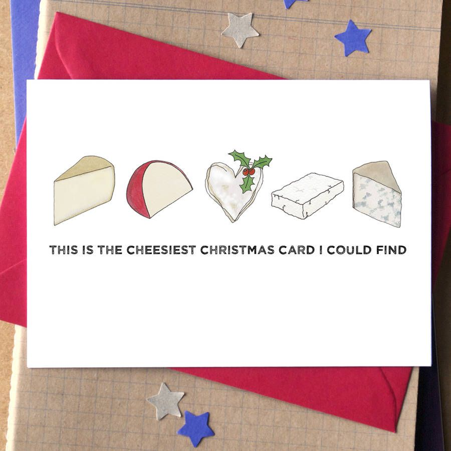 Funny Cheese Christmas Card