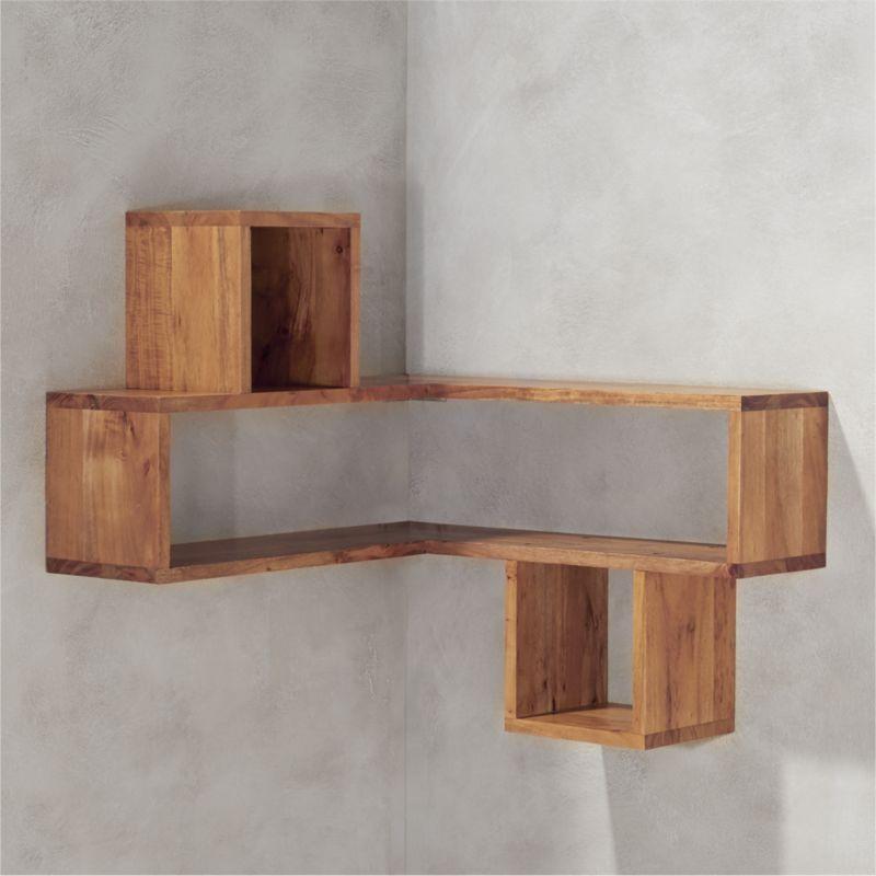 Shop Corner Block Wood Shelf Corners Become Attractive Usable