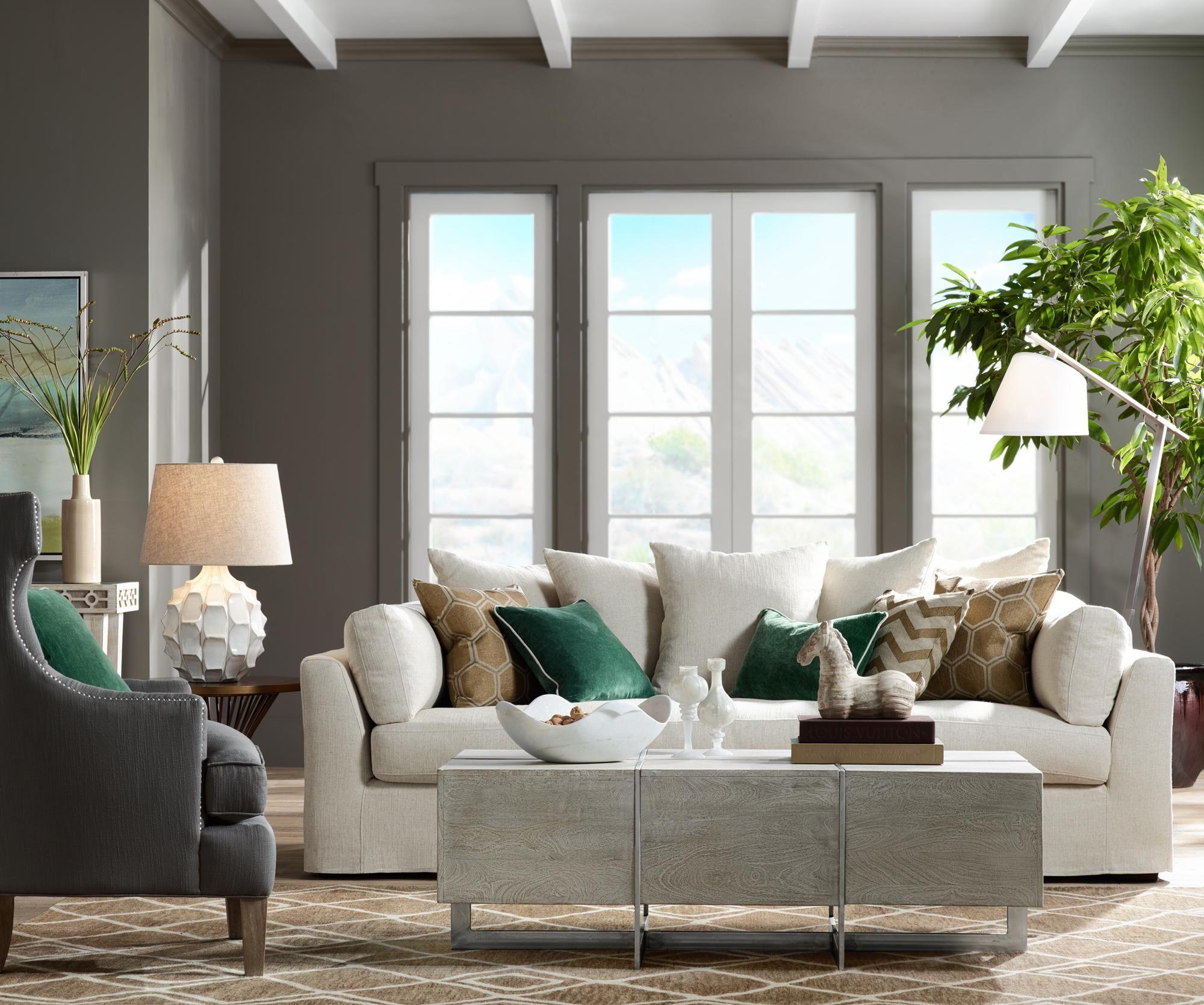 chateau linen fabric slipcover sofa 1v506 lamps plus decor rh pinterest com