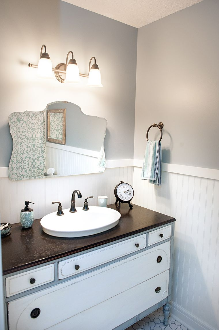 This Is My Latest Bath Remodel I Repurposed An Old Dresser 275