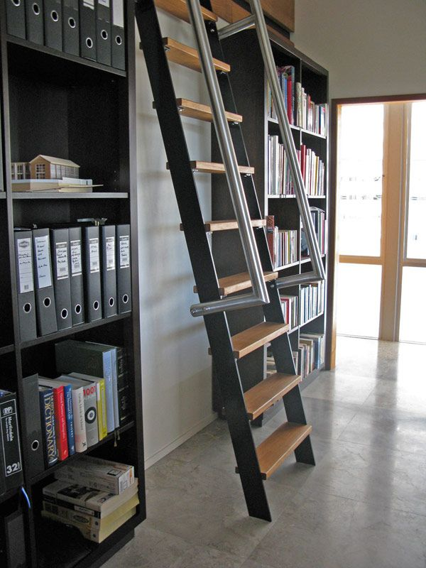 Steel Frame House Design Mosman Park House In Australia Stunning Home Library With Ladder Steel Frame H Steel Frame House Tiny House Inspiration House Design
