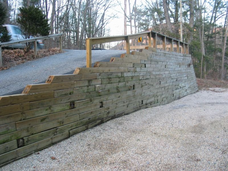 wood retaining wall ideas for the house wood retaining on types of walls construction id=93752