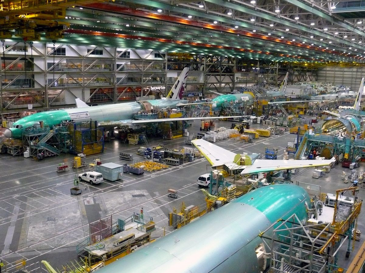 Image result for Everett 777 production plant