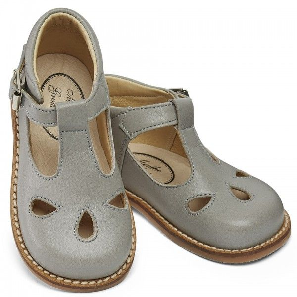 Leather T Bar Shoes For Children