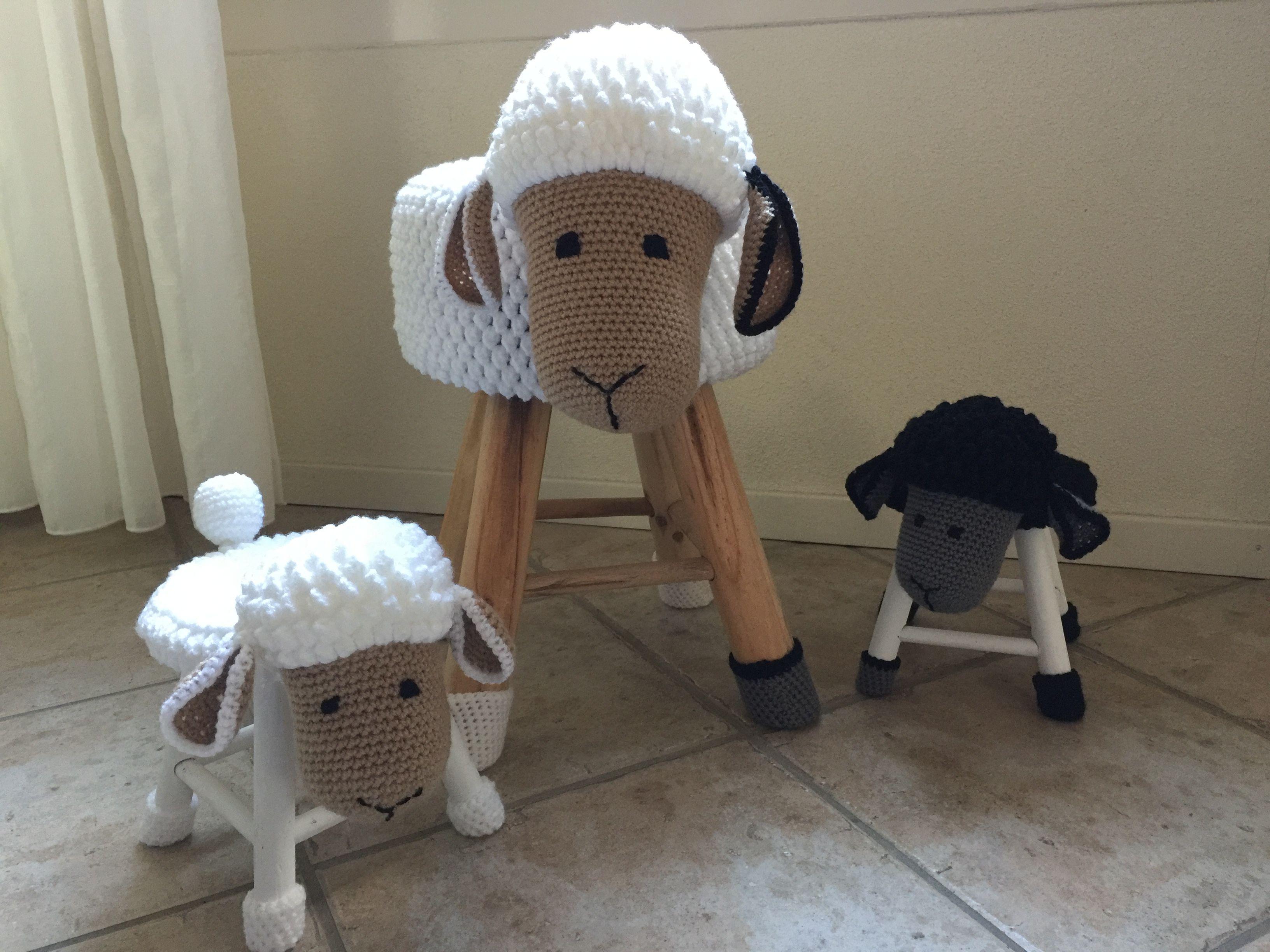 Mama Schaap Met 2 Lammetjes Krukjes Haken Sheep Leuk