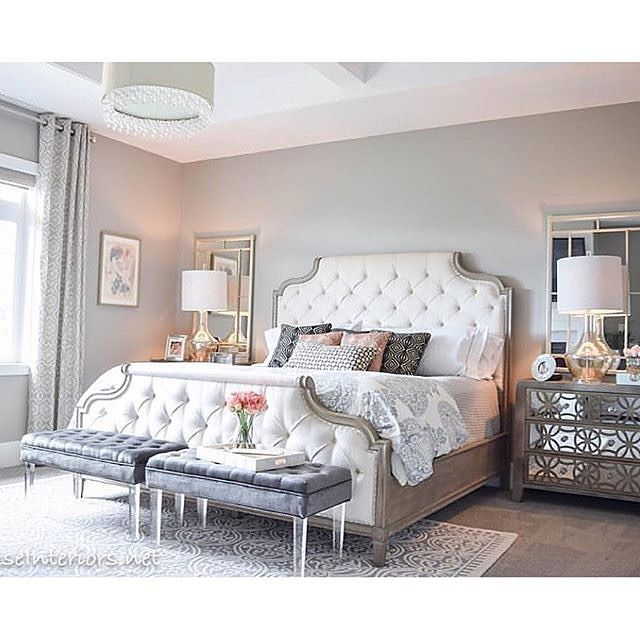 I Love This White Tufted Headboard