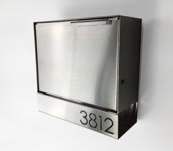 Modern Mailbox Louis B Wall Mounted Mailbox Black Powder Coated