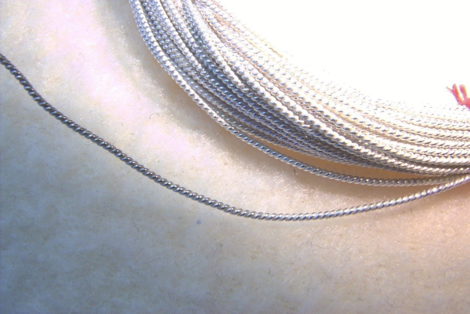 22 ga. 5 ft. TWISTED ROPE STERLING Silver Wire - Dead Soft