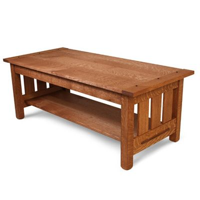 Build an Arts and Crafts Coffee Table · Free Woodworking ...