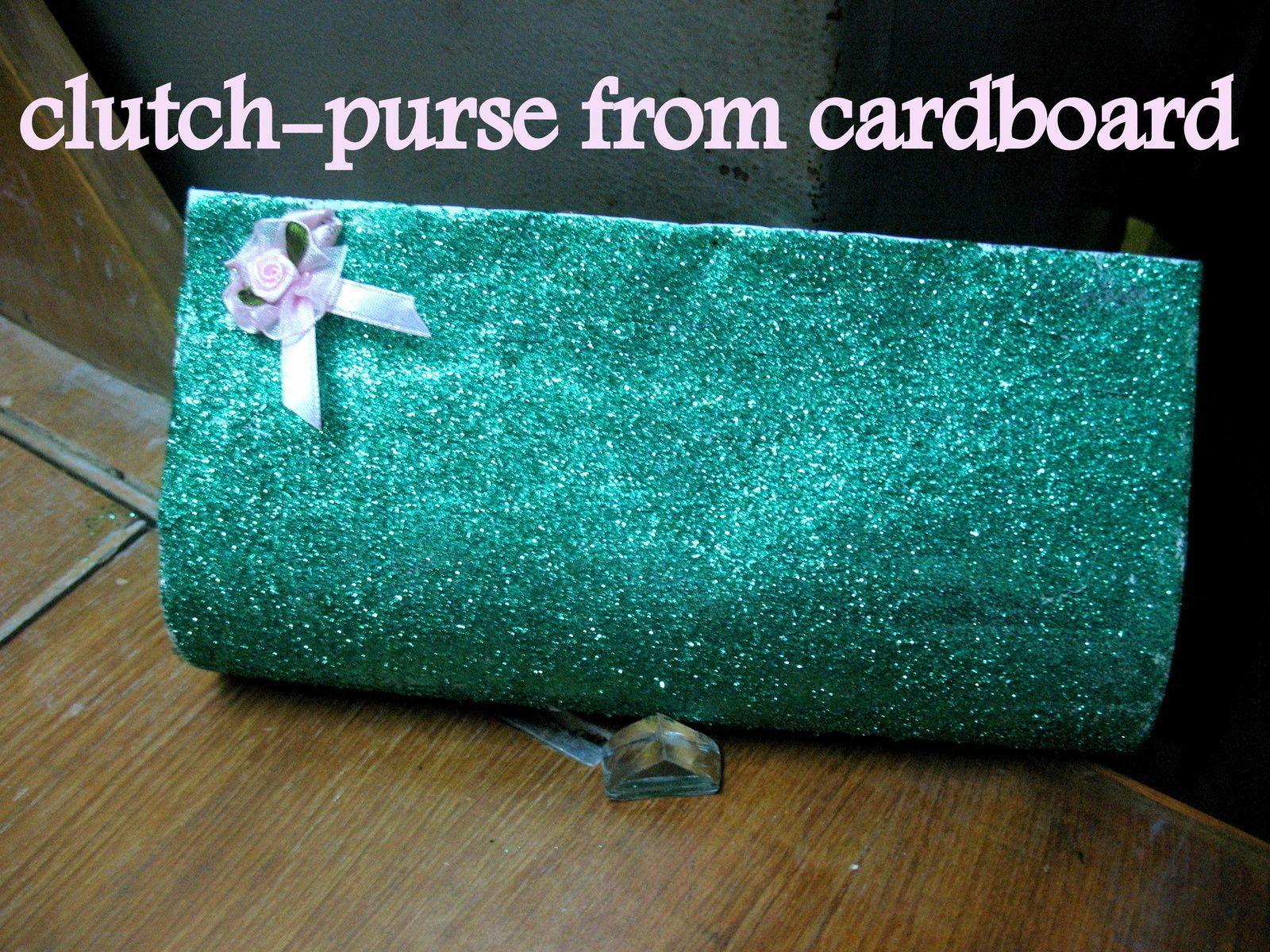 Clutch Purse From Cardboard!!!!