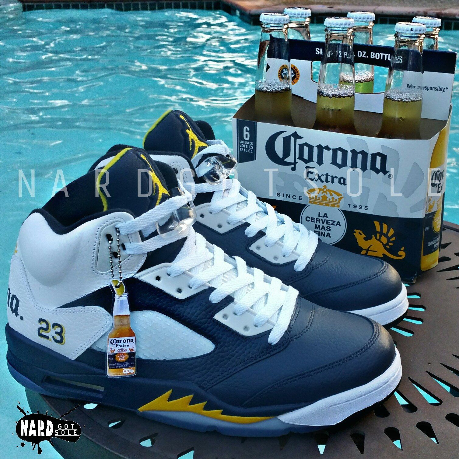 newest 0c7a7 44a06 Custom Corona 5   Sneakers in 2019   Jordans, Air jordans, Sneakers nike