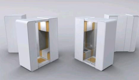 Modular Portable Bathroom For Small Space Interior Design Http Dornob Com