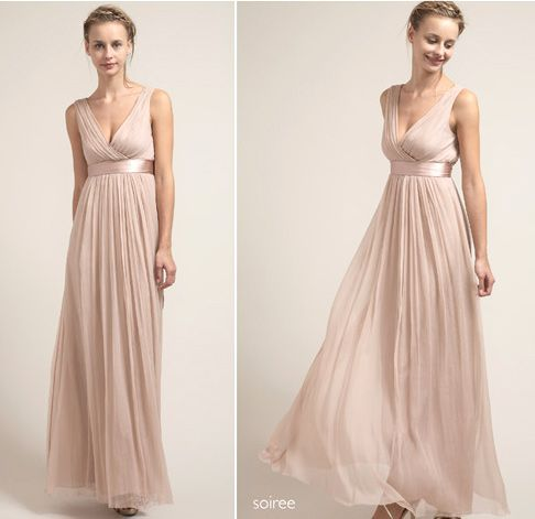 champagne flowy dress | Mae Bridesmaids Dresses | Pinterest ...