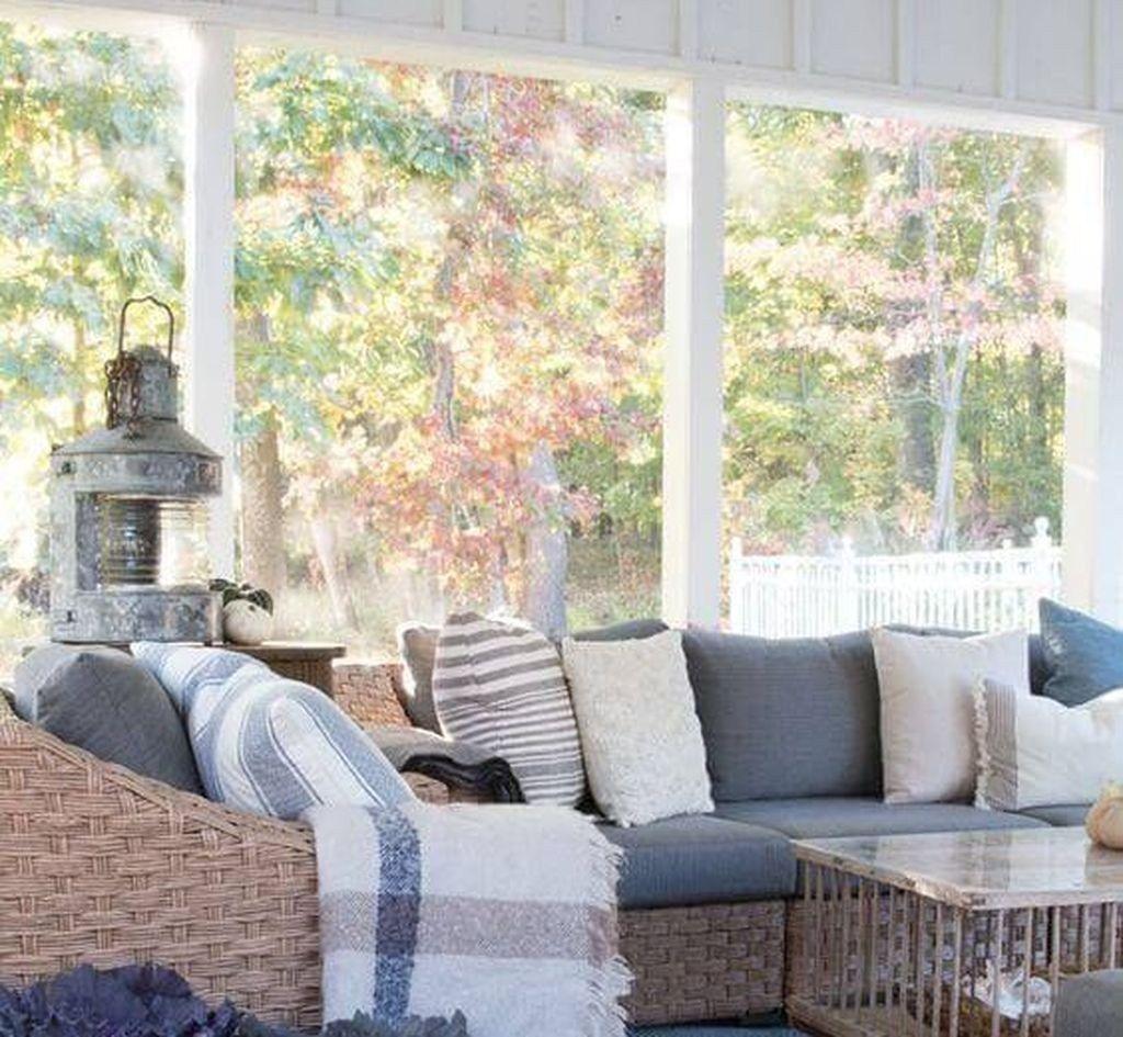 Cool Sunroom Design Ideas 40