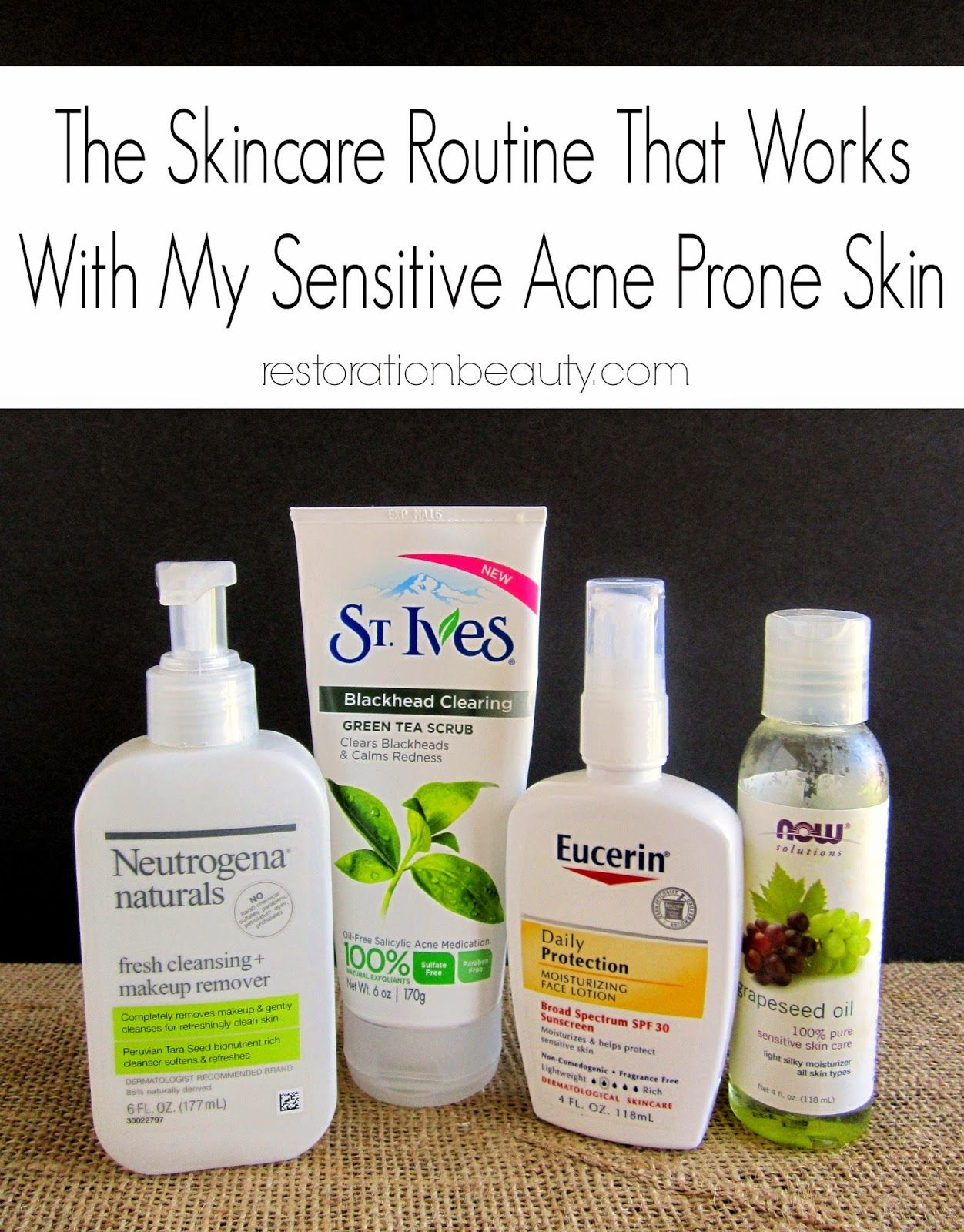Best Skin Care Routine For Acne Prone Skin Sensitive Acne Prone Skin Acne Prone Skin Skin Care Routine