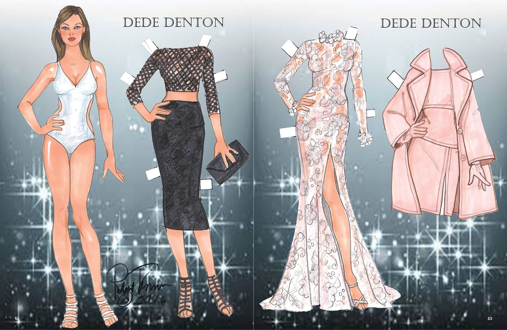 Dede Denton paper dolls