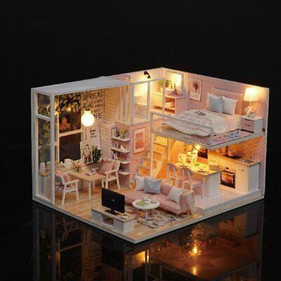 Robotime Diy Dollhouse Tailor Shop Model Kits Wooden Furniture Miniature 1 24 Ebay Tiny House Design Small House Model Dollhouse Furniture Kits