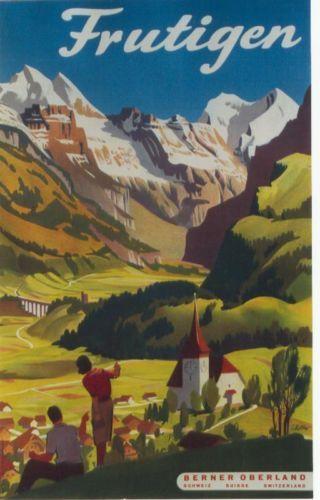 Original-vintage-poster-FRUTIGEN-BERNESE-MOUNTAINS-1952