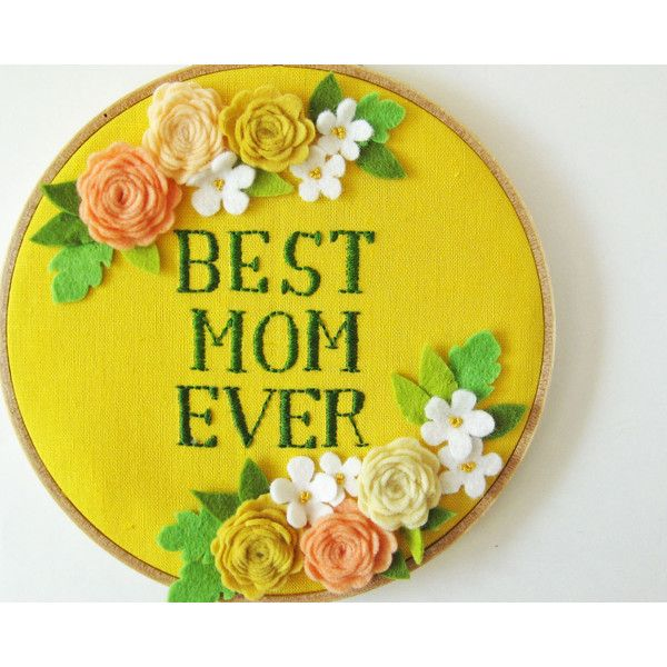 Mother\'s Day embroidery hoop wall art \