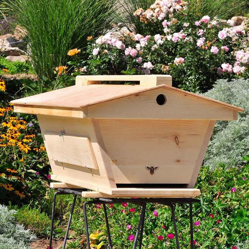 Beau Precision Craftsmanship Fully Assembled Top Bar Hive Ready For Bees! The Golden  Mean Hive Was Developed By Corwin Bell After Noticing How Productive The ...