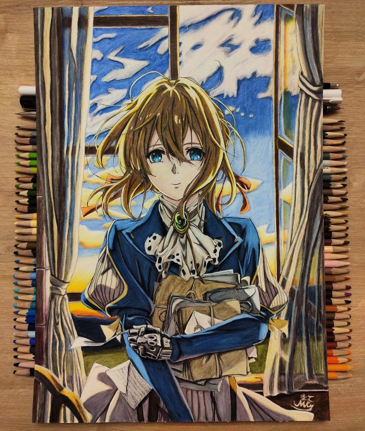Violet Evergarden Anime Drawings Anime Sketch Art Drawings